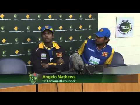 Sangakkara &amp;amp; Mathews - Press conference after the 1 wicket win at MCG in 2010