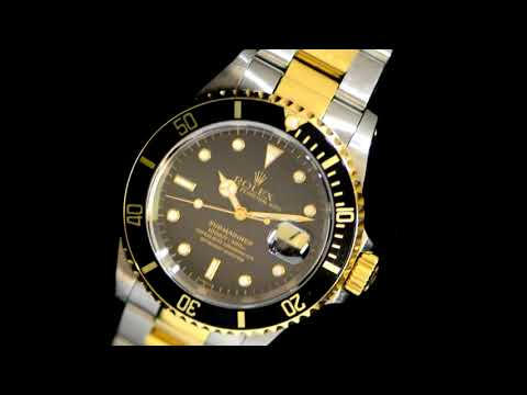 Men's Stainless Steel/18k Yellow Gold Rolex 'Submariner' Automatic Wristwatch