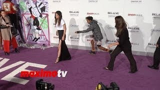 "Jaden Smith and Kylie Jenner Avoid Posing Together at Justin Bieber's ""Believe"" Premiere"