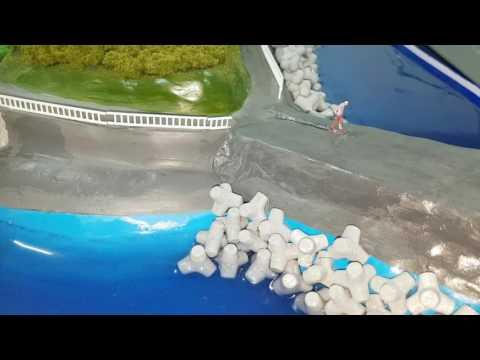 재난 연출 디오라마 홍수 전시모형 3