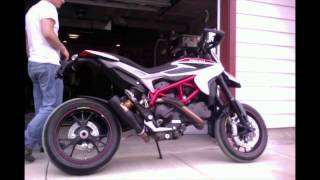 10. 2013 Ducati Hypermotard SP Competition Werkes GP HQ Exhaust Sounds vs Stock