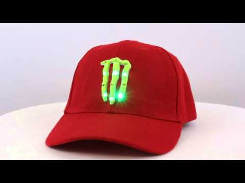 Monster Energy Drink Light Up Hat Type 2