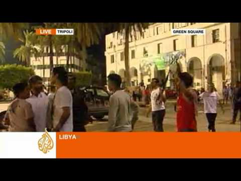 zeina khodr - Zeina Khodr reports live from the Green Square in Tripoli as residents celebrate the opposition fighters' gains against Gaddafi forces in the Libyan capital.