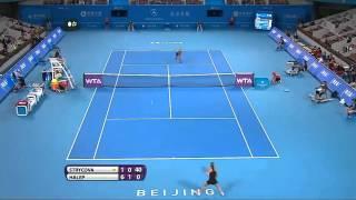 Tennis Highlights, Video - [HD]Simona Halep - Volleys (2014-09-28, China Open, Beijing, R64, vs Barbora Zahlavova Strycova)