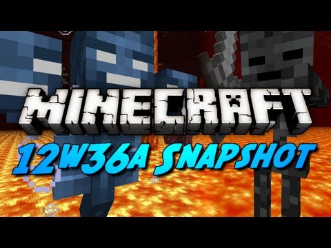 Minecraft Snapshots - 12w36a - Mob Heads, Wither Skeletons, Control Pigs & More!
