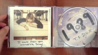 Taylor Swift 1989 Deluxe Version unboxing