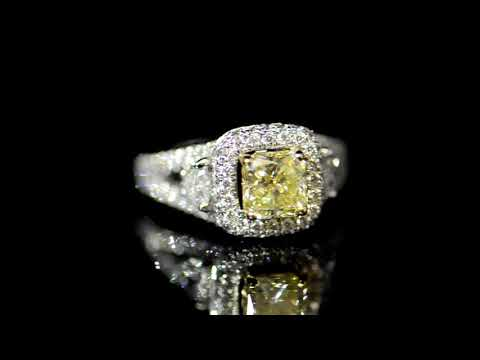 GIA Certified 1.40ct 'Internally Flawless' Fancy Yellow Diamond Ring