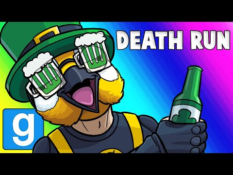 Gmod Death Run Funny Moments - St. Patty's Party at Panda's! (Garry's Mod) (видео)