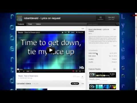 |OUTDATED| How to make a good looking lyrics video part I - robertdevald