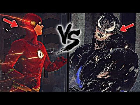 The Flash Vs Venom - Epic Battle