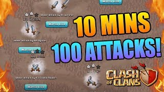 Video 100 ATTACKS IN 10 MINUTES! Can We Win? Clash of Clans Epic Challenge - Amazing CoC Gameplay!! MP3, 3GP, MP4, WEBM, AVI, FLV Agustus 2017