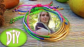 Bracelets: DIY Tube Bracelet! Bracelet Making Tutorial Out of String & Tube charm - YouTube