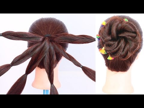 New hairstyle - new trending juda hairstyle with trick  messy bun  cute hairstyle  easy hairstyle  hairstyle