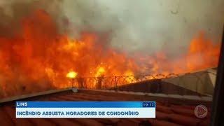 Incêndio atinge área de mata e assusta moradores de condomínio em Lins