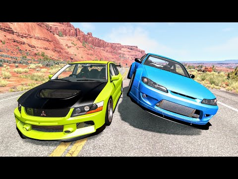 Street Racing Crashes #15 - BeamNG Drive | CrashBoomPunk