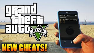 GTA 5 CHEATS: NEW Cellphone Cheats Found! Moon Gravity & MORE! (GTA 5 Cheat Codes Gameplay)