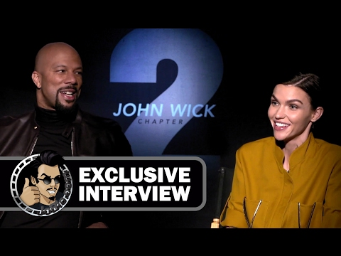 Common & Ruby Rose Exclusive JOHN WICK 2 Interview (JoBlo.com)