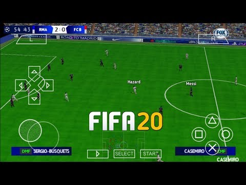 FIFA 20 PPSSPP Camera PS4 Android Offline 600MB New Kits 2020 & Transfers Update Best Graphics