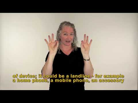 Auslan video of telecom training