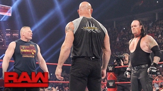 For the first time since Goldberg defeated Brock Lesnar in their Mega Match at Survivor Series, the two titans meet in the center of the ring for an intense ...