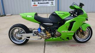 9. For Sale $4,999:  2003 Kawasaki ZX12R Ninja with 240 Rear Tire and Extended Swingarm