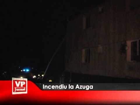 Incendiu la Azuga