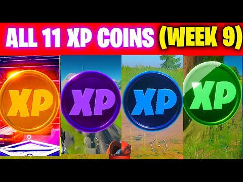 All XP COINS LOCATIONS IN FORTNITE SEASON 4 Chapter 2 (WEEK 9)