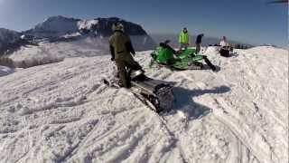6. Arctic Cat 600 SnoPro & Polaris RMK 800 Assault