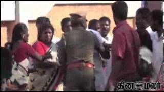 Police Lathi Charge in Madurai - Dinamalar March 9th 2014 Tamil Video News