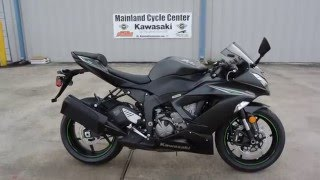 5. $12,699:  2016 Kawasaki ZX6R 636 ABS Ninja Metallic Matte Carbon Gray Overview and Review