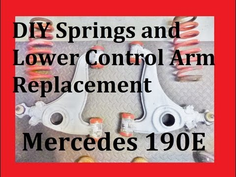 DIY Springs and Lower Control Arm Replacement Mercedes 190E