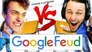 GOOGLE FEUD ONE VS ONE | COCKTAIL CHALLENGE!!