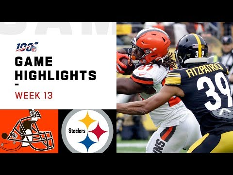 Browns vs. Steelers Week 13 Highlights  NFL 2019