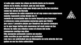 Na - Canserbero (Letra) ESTE ES LINK DE A DONDE SE FUE LA CONCIENCIA CANSERBERO (LETRA):...