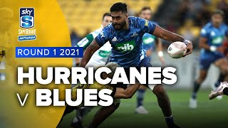 Hurricanes v Blues Rd.1 2021 Super rugby Aotearoa video highlights | Super Rugby Video