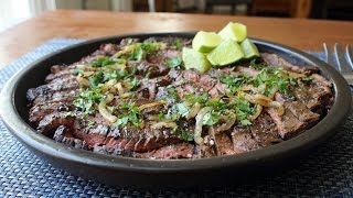 Grilled Mojo Beef - Cuban-Inspired Marinated Skirt Steak Recipe by Food Wishes