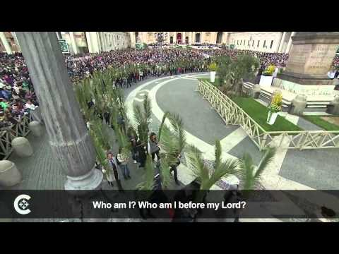 celebrates - Pope Francis celebrated Palm Sunday in St. Peter's Square April 13.