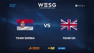 Team Serbia vs Team UK, WESG 2017 Dota 2 European Qualifier Finals