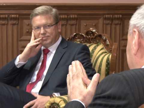 Николае Тимофти провел встречу с комиссаром ЕС по вопросам расширения и европейской политике соседства Штефаном Фюле