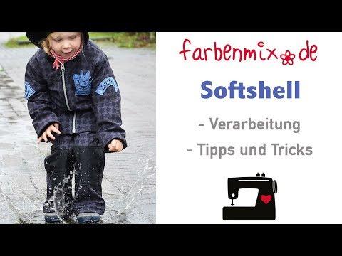 Softshell Verarbeitung Tipps von Sabine von farbenmix