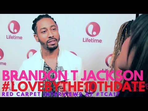Brandon T Jackson Interviewed At Lifetime's Love By The 10th Date Premiere Event #lifetimetv