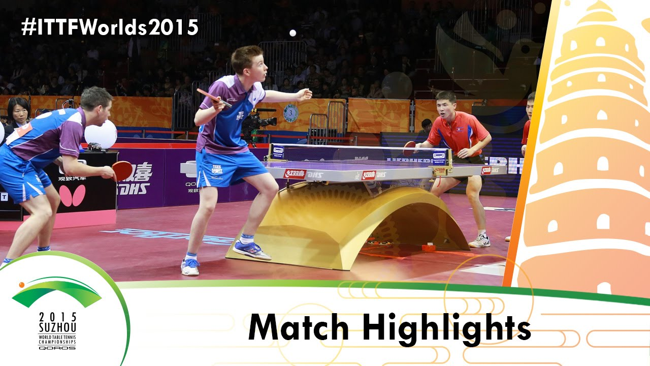 WTTC 2015 Highlights: CHOE Il/KANG Wi Hun vs HOWIESON Craig/WHEELER Christopher (Qual Groups)
