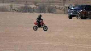 9. Dyson riding his 1999 KTM 50 Pro Jr