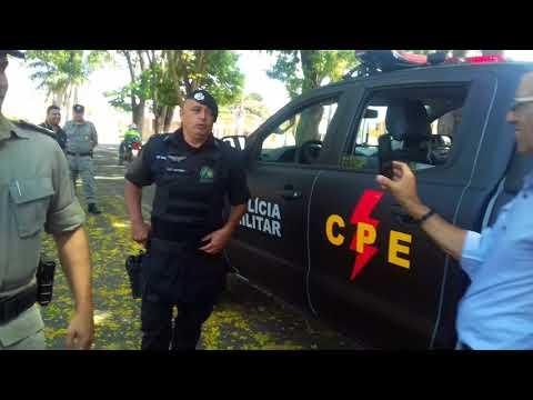 Coronel Ricardo Mendes faz entrega de novas armas e viatura para CPE, em Mineiros (GO)