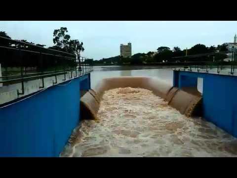 inundação da comporta em bebedouro-sp