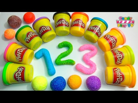 Learn To Count with PLAY-DOH Numbers | 1 to 20 | Squishy Glitter Foam | Learn To Count for Children (видео)