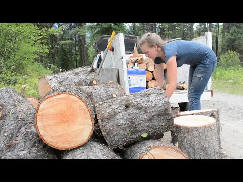 Off Grid Wilderness Living - Getting Firewood for Year