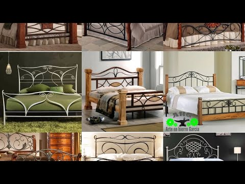 modernas camas de hierro y madera. arte en hierro García