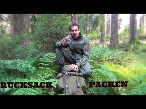Outdoor Ausrüstung 26 - Rucksack-Inhalt für 3 Tage + wie einpacken