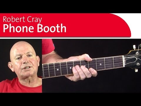 Robert Cray Phone Booth. Guitar Lesoon backing track